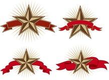 Bandiere della stella Fotografia Stock