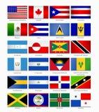 Bandiere delle Americhe Parte 1 Fotografia Stock Libera da Diritti