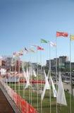 Bandiere delle notti bianche di festival Fotografia Stock Libera da Diritti