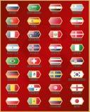 Bandiere delle squadre di calcio nazionali in Russia Immagini Stock Libere da Diritti