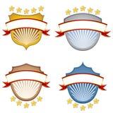 Bandiere dello schermo Fotografie Stock