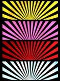Bandiere di alba Immagine Stock
