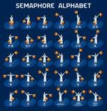 Bandiere di alfabeto del semaforo Fotografia Stock Libera da Diritti