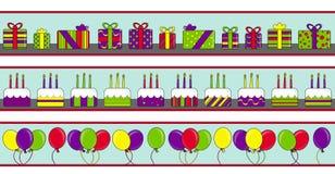 Bandiere di buon compleanno Immagine Stock Libera da Diritti