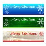 Bandiere di Buon Natale immagine stock