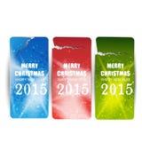 Bandiere di Buon Natale Fotografia Stock Libera da Diritti
