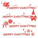 Bandiere di Buon Natale Fotografie Stock Libere da Diritti
