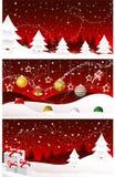 Bandiere di Buon Natale, schede Fotografie Stock