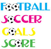 Bandiere di calcio di gioco del calcio Fotografia Stock Libera da Diritti