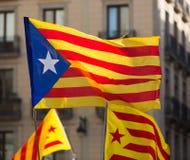 Bandiere di Catan di volo Fotografia Stock Libera da Diritti