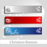 Bandiere di Chrismas con il blocco per grafici del messaggio Fotografia Stock Libera da Diritti