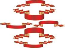 Bandiere di colore rosso di vettore royalty illustrazione gratis
