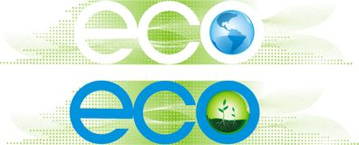 Bandiere di Eco Immagine Stock