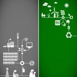 Bandiere di ecologia Fotografie Stock