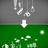 Bandiere di ecologia Immagini Stock