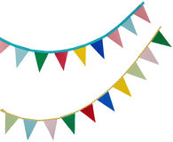 Bandiere di feste su un bianco Immagini Stock