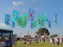 Bandiere di festival dell'isola di Wight Fotografie Stock Libere da Diritti