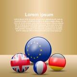 bandiere di forma 3d Fotografia Stock Libera da Diritti