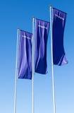 Bandiere di gestione commerciale di Volvo sopra cielo blu fotografia stock libera da diritti