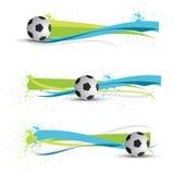 Bandiere di gioco del calcio Immagini Stock Libere da Diritti