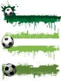 Bandiere di gioco del calcio di Grunge Immagini Stock Libere da Diritti
