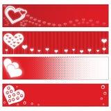 Bandiere di giorno dei biglietti di S. Valentino fotografie stock