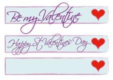 Bandiere di giorno dei biglietti di S. Valentino immagini stock