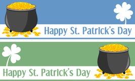 Bandiere di giorno della st Patrick [1] Fotografie Stock Libere da Diritti