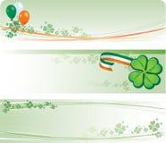 Bandiere di giorno della st Patricks illustrazione di stock
