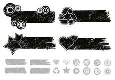 Bandiere di Grunge Fotografia Stock Libera da Diritti