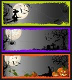 Bandiere di Halloween Immagine Stock Libera da Diritti