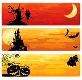 Bandiere di Halloween illustrazione di stock