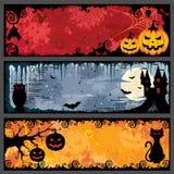 Bandiere di Halloween Immagini Stock Libere da Diritti