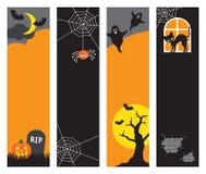 Bandiere di Halloween Fotografie Stock