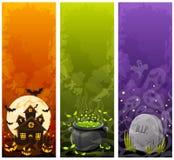 Bandiere di Halloween Immagini Stock