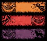 Bandiere di Halloween. illustrazione vettoriale