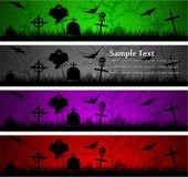 Bandiere di Halloween Fotografie Stock Libere da Diritti