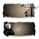 Bandiere di Halloween Fotografia Stock