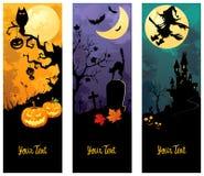 Bandiere di Halloween impostate Fotografia Stock