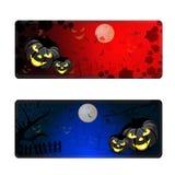 Bandiere di Halloween impostate Immagini Stock