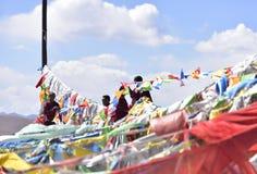 Bandiere di Hung Prayer Fotografia Stock Libera da Diritti