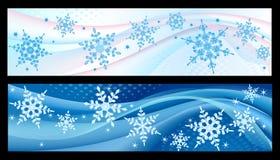 Bandiere di inverno Fotografia Stock