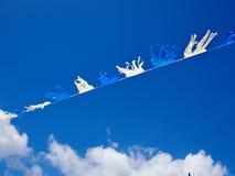Bandiere di Israele per segnare e celebrare la festa dell'indipendenza di Israele (Yo Immagini Stock Libere da Diritti