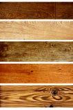 Bandiere di legno Fotografia Stock