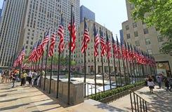Bandiere di Memorial Day a Rockefeller Centerl Fotografie Stock Libere da Diritti