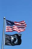 Bandiere di MIA del PRIGIONIERO DI GUERRA e dell'americano fotografia stock