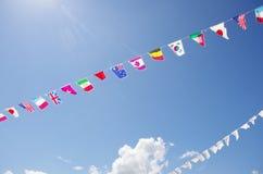 Bandiere di molte nazioni Fotografia Stock