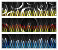 Bandiere di musica Fotografia Stock