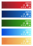 Bandiere di natale royalty illustrazione gratis