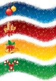 Bandiere di natale illustrazione vettoriale
